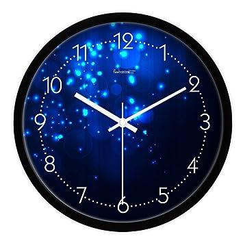 DEED Metal Simple Personality Quiet Reloj de Pared Creativo Moderno Salón Reloj Individual Dormitorio Reloj de