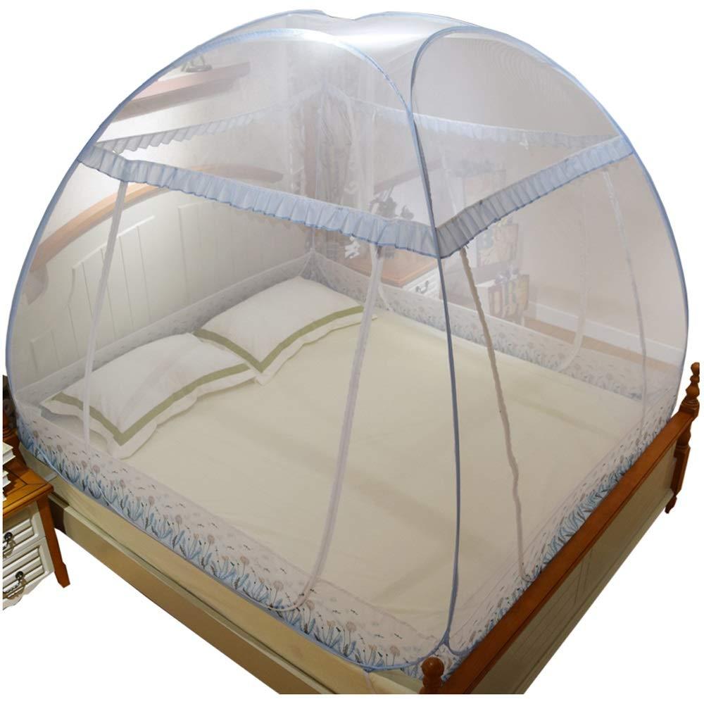 CL& Moskitonetz - keine Notwendigkeit zur InsGrößetion eines dreiteiligen verdickten, verschlüsselten Moskitonetzes von Jurten, Größe  Geeignet für ein 3,3-Fuß-Bett, ein 4-Fuß-Bett, ein 5-Fuß-Bett, ei