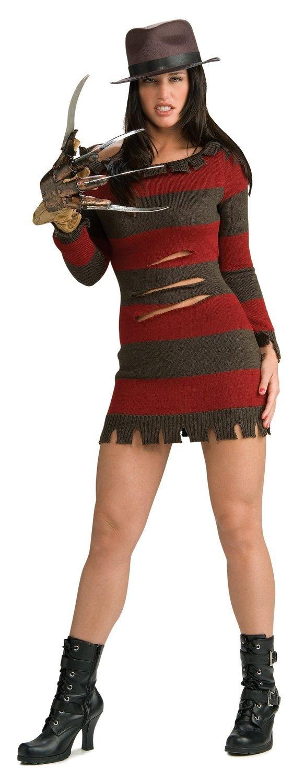 KULTFAKTOR GmbH Miss FROTdy Krueger Lizenzkostüm Halloween-Damenkostüm braun-rot M