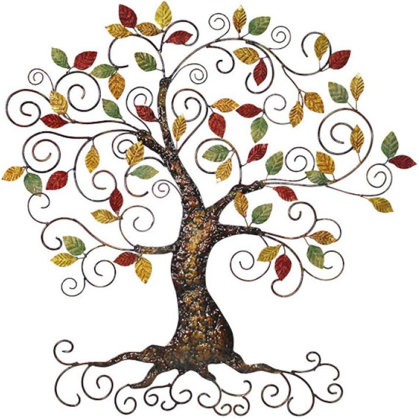Decoración De Pared Tapices De Pared De Hierro Forjado Tridimensional Colgante De Pared Buena Suerte árbol Decoración De La Pared Accesorios Para El Hogar,A