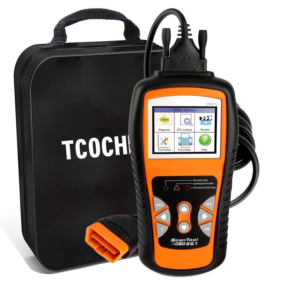 TCOCHE 4.7 LCD OBD2 Escáner, OBDII Professional Car Auto Diagnostic Lector de Código de Coche&Coche Motor de vehículo O2 Sensor Systems Scanner para Todos ...