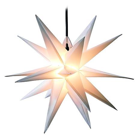 Stella Di Natale Tridimensionale.Dekowelt Stella Di Natale Tridimensionale Di Colore Bianco 100 Cm