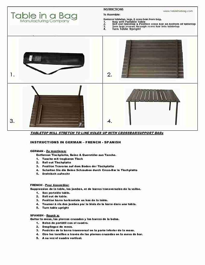 Amazon Table In A Bag A2716R Low Aluminum Portable Red Folding Patio Tables Garden Outdoor