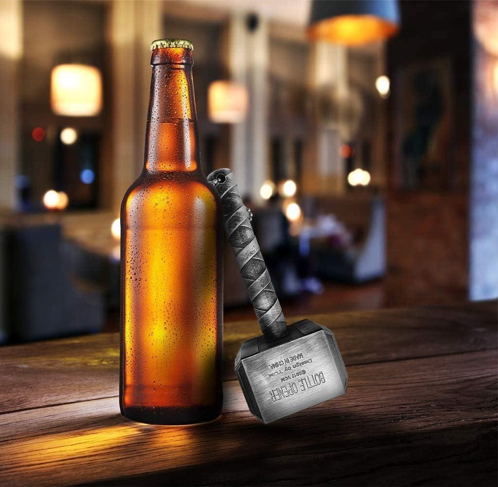 apribottiglie a forma di martello regalo per gli amanti della birra Thor chiave per bevande perfetto per bar e uso domestico apribottiglie a forma di martello apribottiglie Mjolnir Quake