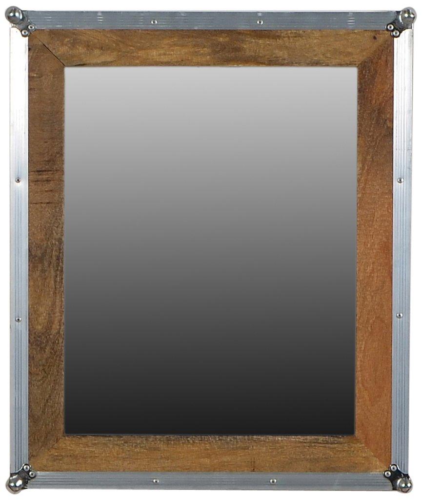 SIT-möbel 2290-01 miroir roadies bois de manguier naturel aluminium avec anti - 67 x 3 x 80 cm