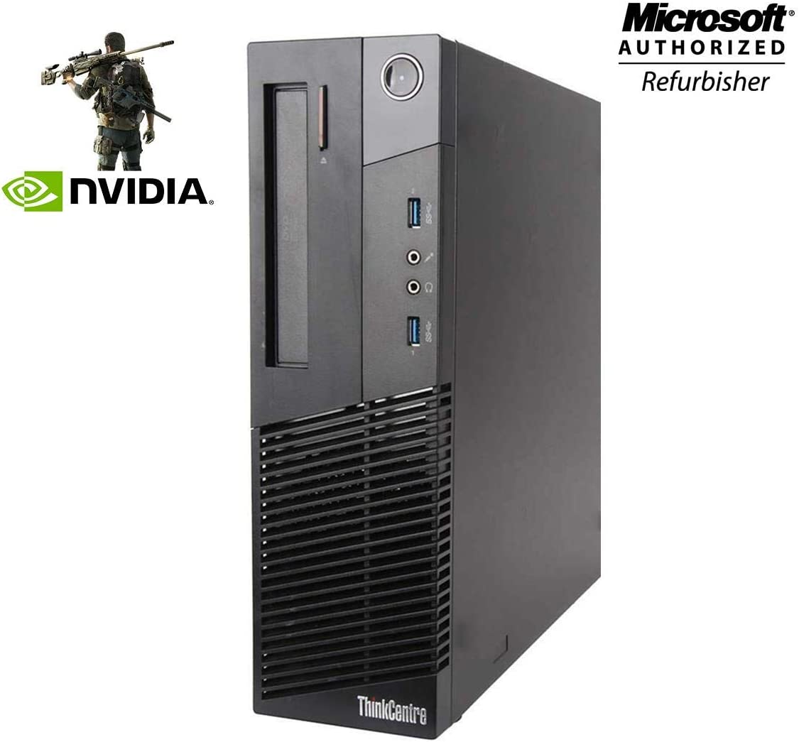 Lenovo Gaming PC ThinkCentre M93p Desktop Computer SFF - Intel Core I7-4770 3.4Ghz - 16GB RAM - 1TB SSD, New NVIDIA GT 1030 2GB DDR5, DVD-ROM, Keyboard, Mouse, WiFi, Windows 10 Pro (Renewed)