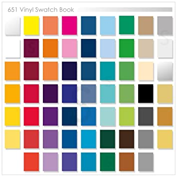 custom oracal 651 swatch book with samples of each color names and part numbers - Color Swatch Book