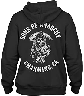 048c2e2b Sons Of Anarchy Samcro Men's Zip Up Hoodie Black: Amazon.ca ...