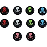 BFU 5 Pair Silicone Skull Analog Controller Joystick Thumb Stick Grip Cap Covers for PS2, PS3, PS4, Xbox 360, Xbox One…