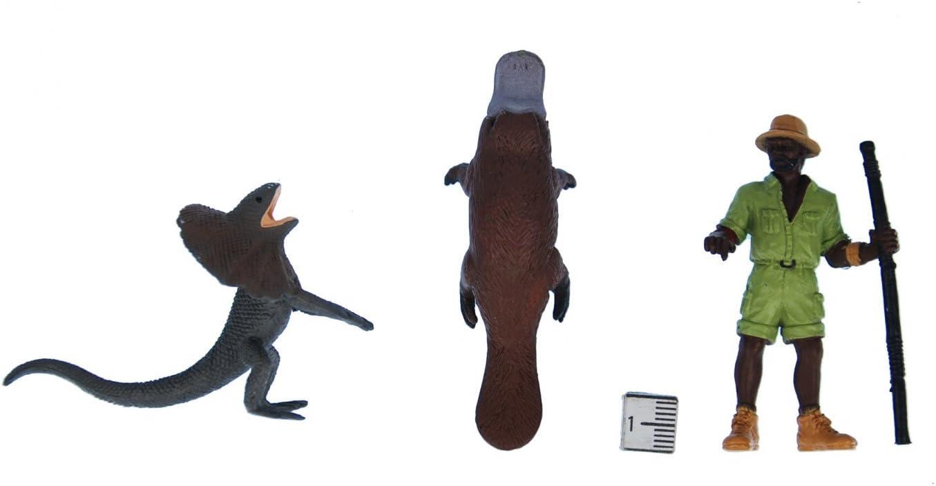 Miniblings 6X Safari Set Figuren Aufstellfiguren Tierfiguren Tiere Australien