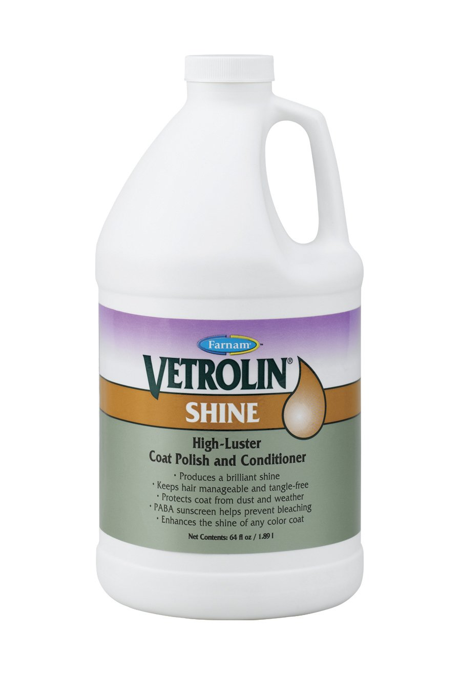Vetrolin Farnam Shine High-Luster Coat Polish and Conditioner Refill, 64 fl. oz.