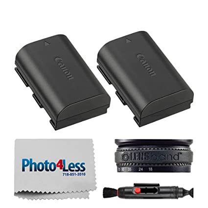 2X Canon LP-E6N Lithium-Ion Battery Pack (7 2V, 1865mAh) for Canon EOS 7D  Mark II, 7D, 5D Mark II, III, IV, 5DS, 5DS R, 60D, 60Da, 70D, 80D, 6D, 6D