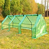Outsunny 9'L x 3'W x 3'H Portable Flower Garden Greenhouse