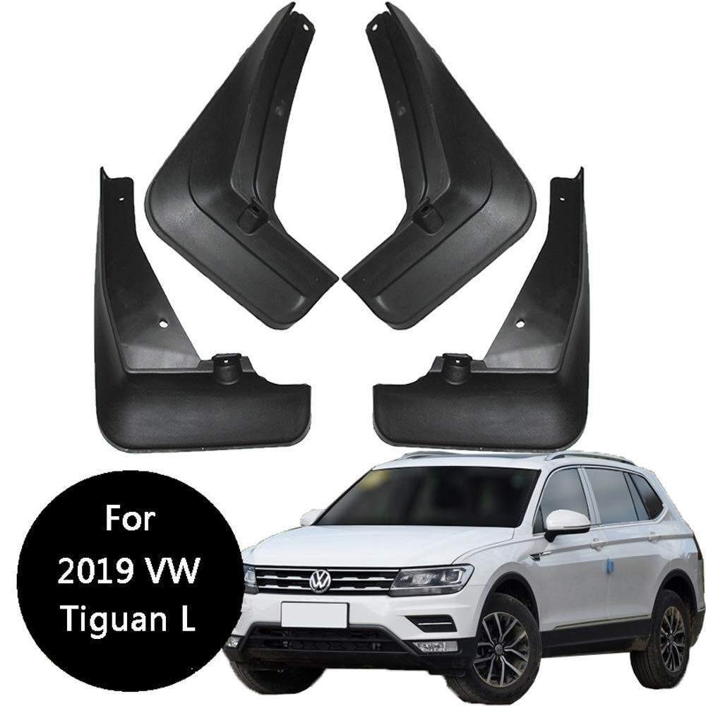 Kotfl/ügelstyling /& Karosseriebeschl/äge 4er Set Schmutzf/änger Spritzschutz vorne /& hinten f/ür VW Tiguan L 2019