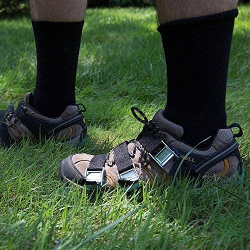 Punchau Lawn Aerator Shoes w/Metal Buckles and 3 Straps - Heavy Duty Spiked Sandals for Aerating Your Lawn or Yard by Punchau (Image #6)
