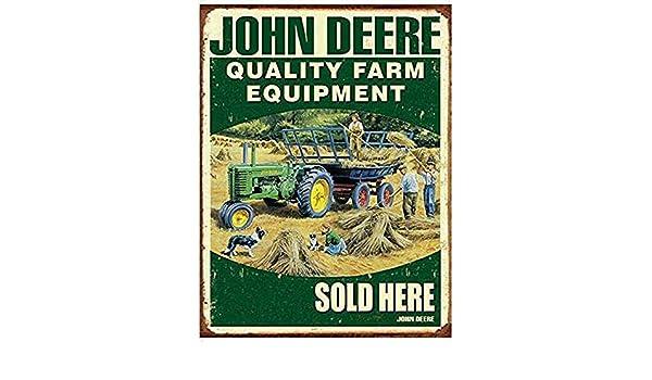 HALEY GAINES John Deere Farm Equipment Placa Cartel Póster ...
