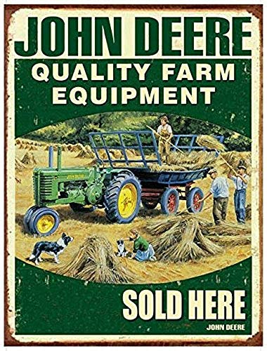 Farm Equipment Pub Home Tin Wall Sign Funny Iron Painting Vintage Metal Plaque Decoration Warning Sign Hanging Artwork Poster for Bar Café Park