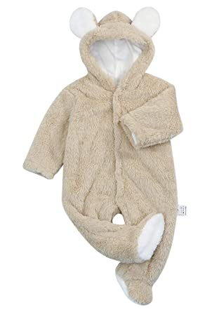54f2f751ac85 Amazon.com  Christmas Baby Boys Girls Romper Cartoon Bear Ears ...