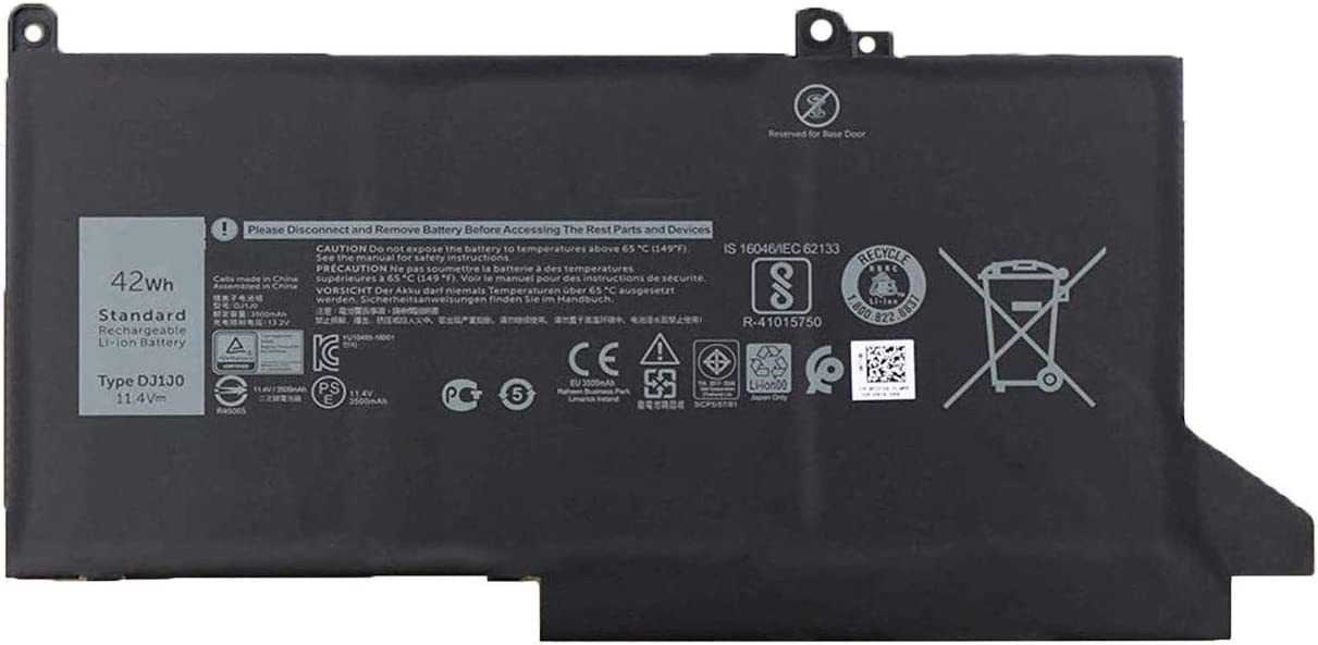 BOWEIRUI DJ1J0 (11.4V 42Wh 3500mAh) Laptop Battery Replacement for Dell Latitude 12 7280 7290 E7280 E7290 13 7380 7390 E7380 E7390 14 7480 7490 E7480 E7490 Series 451-BBZL PGFX4 ONFOH