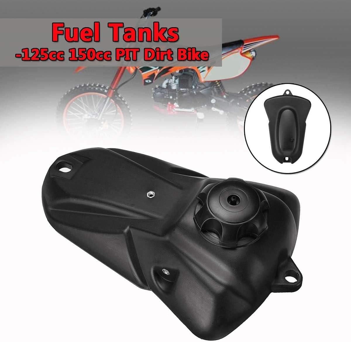 Noblik R/éServoir de Carburant Moto pour R/éServoirs de Carburant 125Cc 150Cc Pit Pro Trail Dirt Bike Noir Gas Essence avec Capuchon New Minimotor Motocross