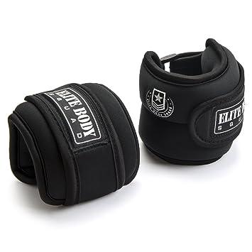 Pesos de tobillo ajustables Elite Body Squad Pro (2 de 1 kg), ideales