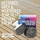 Stainless Steel Scrub Set Marine Grade Scouring Pad