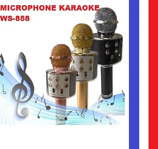 WS-858 - Micrófono, inalámbrico, Bluetooth, HiFi, para karaoke, altavoz o portátil, color rosa: Amazon.es: Instrumentos musicales