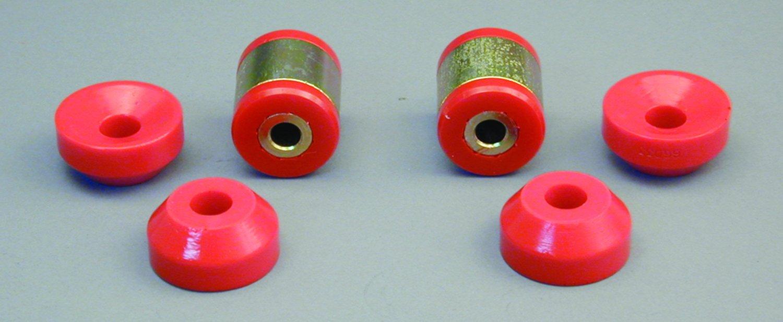 Prothane 8-904 Red Rear Shock Bushing Kit by Prothane