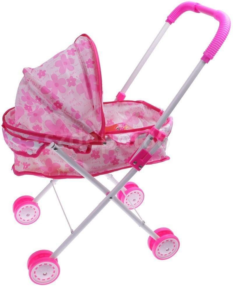 シミュレーションPushchair Toy w / Baby人形ベビーカーアクセサリーKidsアウトドア再生