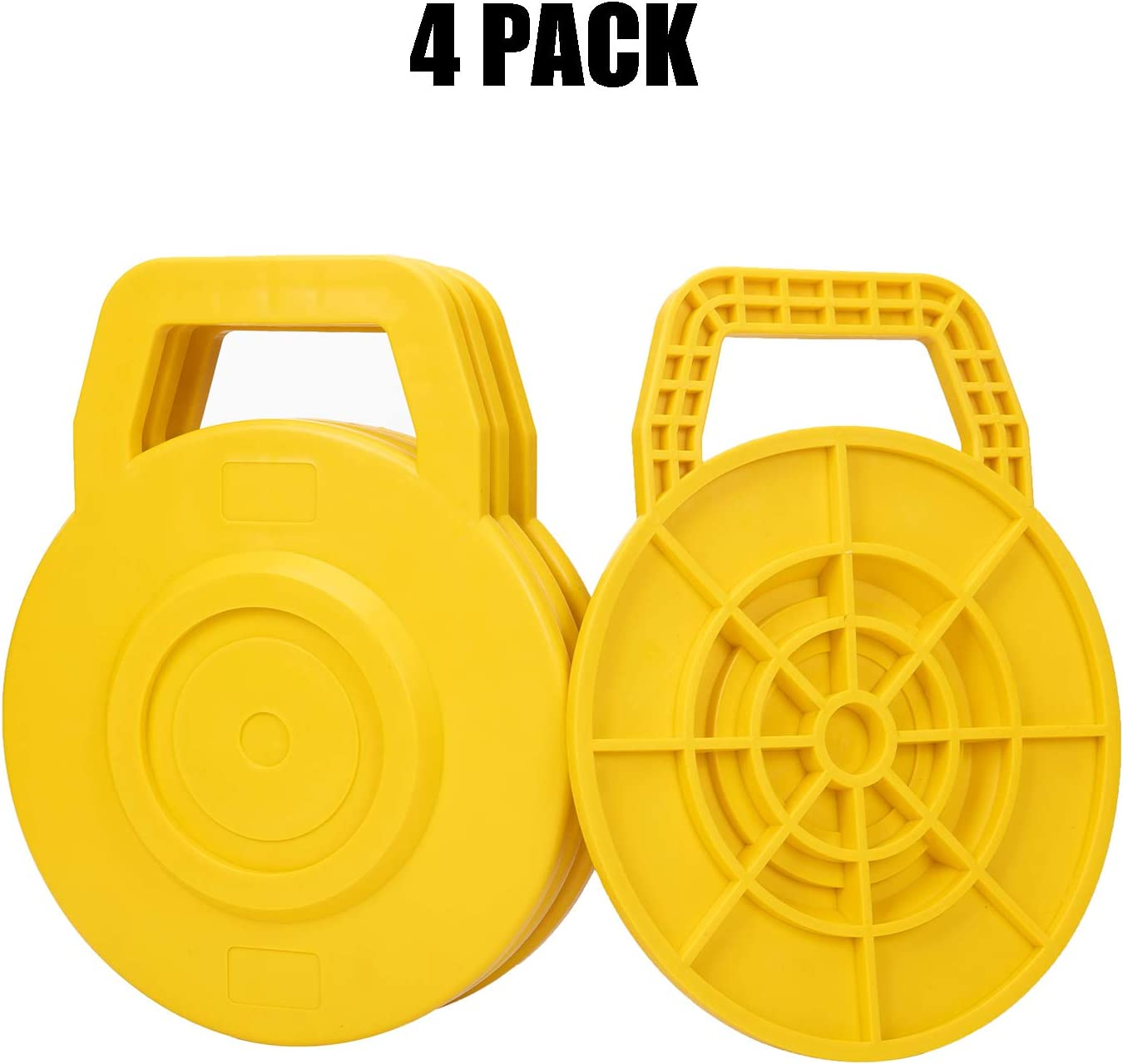 Homeon Wheels Stabilizing Jack Pads for RV Camper Leveling Blocks Help Prevent Jacks from Sinking (4 Pack - Circle)