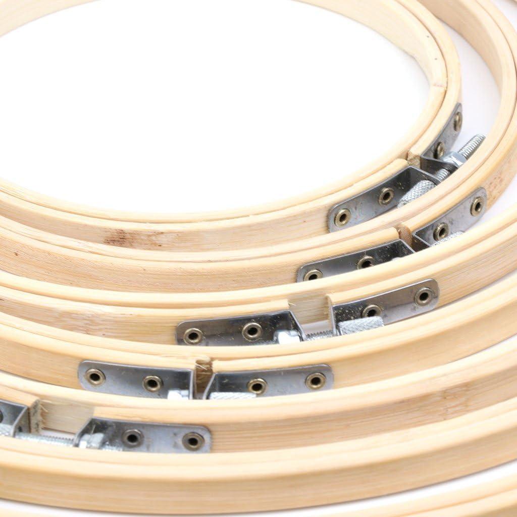 LDA frische 13-34 cm Bambus Holz kreuzstich Maschine stickrahmen Ring n/ähen Handwerk DIY Bambus Stickerei Ring au/ßendurchmesser Holz Farbe