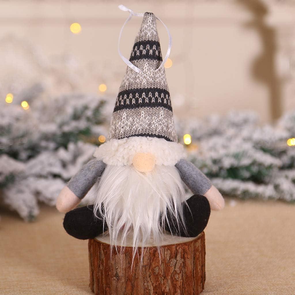 gnomo Babbo Natale svedese altezza 20//30 cm Haorw gnomo natalizio regalo per bambini e famiglia Babbo Natale e pomodori