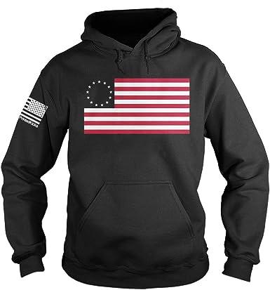 USA Flag Hoodie Mens Womens hoody Grunge american stars stripes