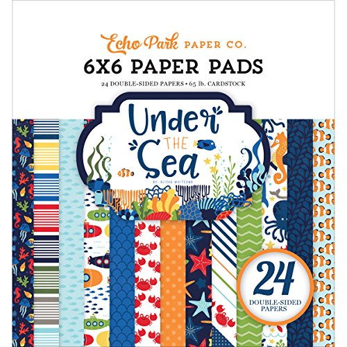 Echo Park Paper Company Under the Sea 6x6 Paper Pad (Pad Scrapbook 6x6 Paper)