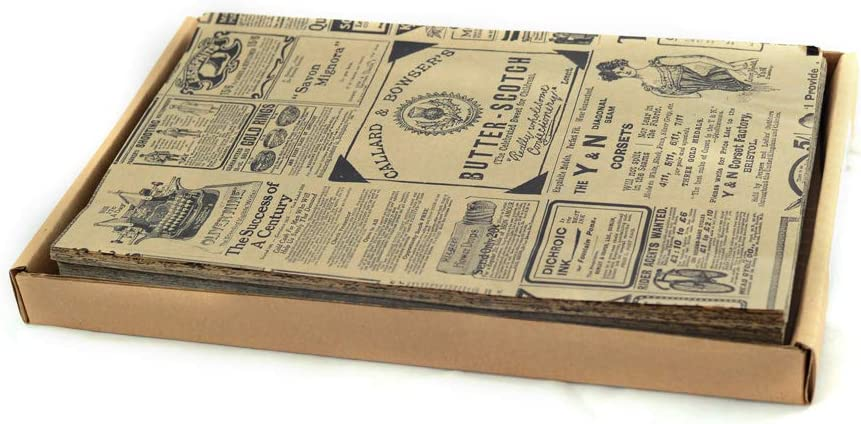 Hostelnovo Lot de 500 Feuilles de Papier Anti-Graisse pour emballages Alimentaires 32 x 20 cm