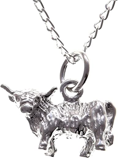 Fine Silver Highland Cow Necklace
