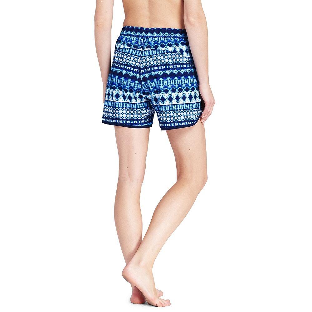 Lands' End Women's 5'' Swim Shorts with Panty, 12, Deep Sea Mystic Stripe Mix by Lands' End (Image #3)