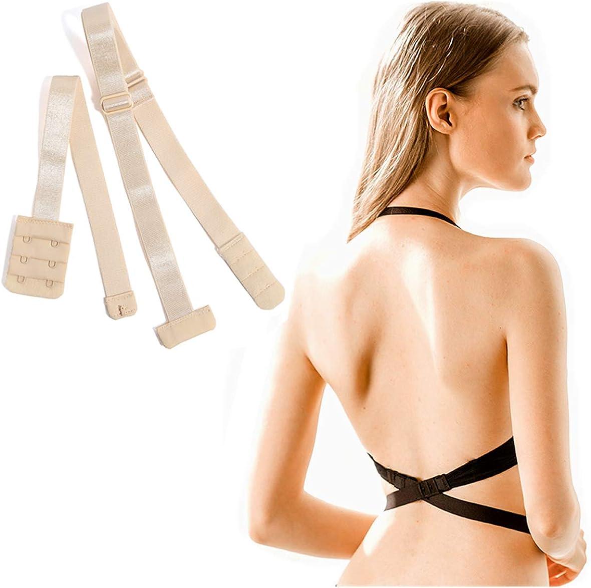 WHITE Adjust Your Bra Backless Alterback Low Back Bra Strap Converter
