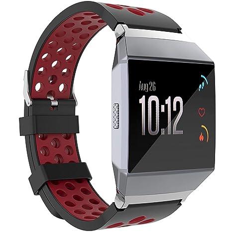 Amazon.com: SmartWatch Bandas para Fitbit iónico, Soft TPU ...