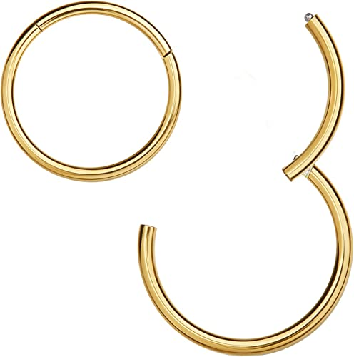 Amazon Com Missnity 316l Surgical Steel Hinged Nose Rings Hoop