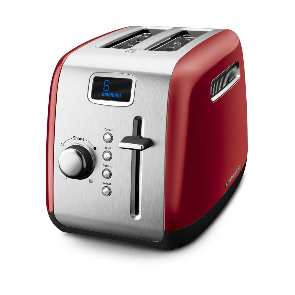 KitchenAid KMT222ER 2-Slice Toaster with Manual High-Lift Lever and Digital Display - Empire Red