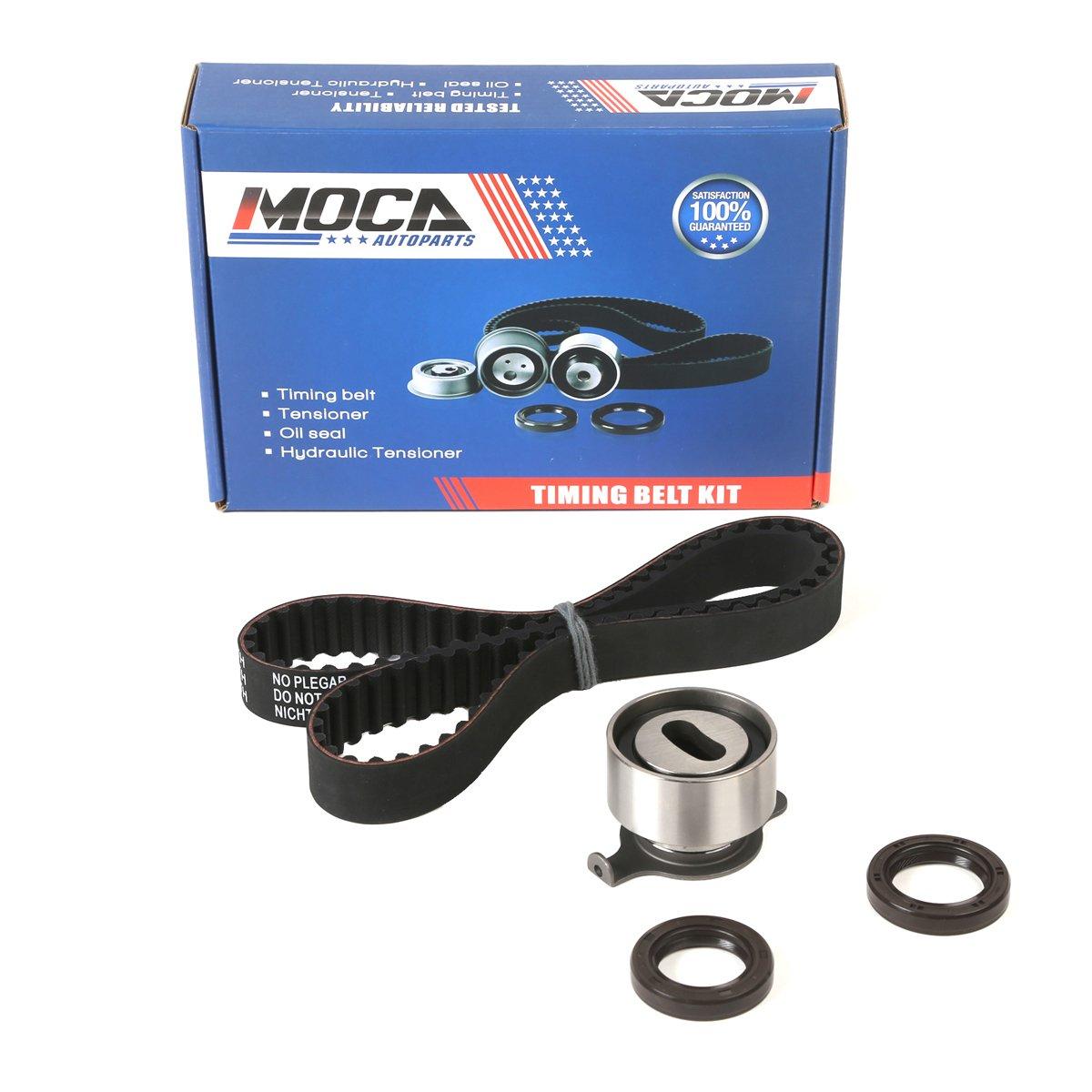 Moca Timing Belt Kit With Tensioner Fit 88 91 Honda Mitsubishi Civic Crx Si Ex 16l 16v Sohc D16a6tck145 Automotive