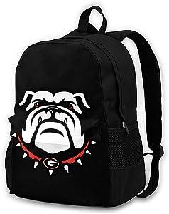The University Of Georgia Bulldogs Backpack, Durable Shoulder Bag School Bag Laptop Bag Daypack for Travel Hiking