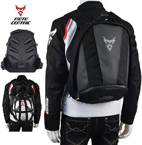 MotoCentric motorcycle leather waterproof backpack riding laptop helmet shoulder bag package