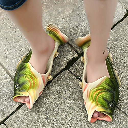 12934499e0af hot sale Mango Heal Fish Animal Slippers Summer Beach Sandals Tricky Fish  Slippers Fish Style Beach