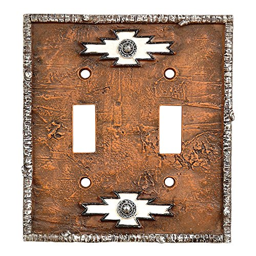 Navajo Rustic Double Switch Plate - Lodge Decor