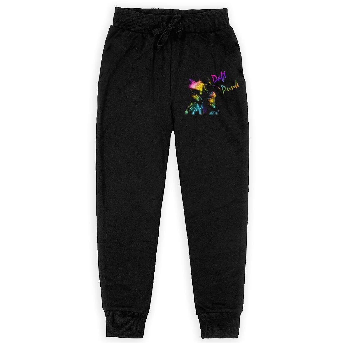 WustegHoodie Teenage Daft Punk Random Access Memories Music Band Teen Sweatpants Sport Trousers Back Pocket Black