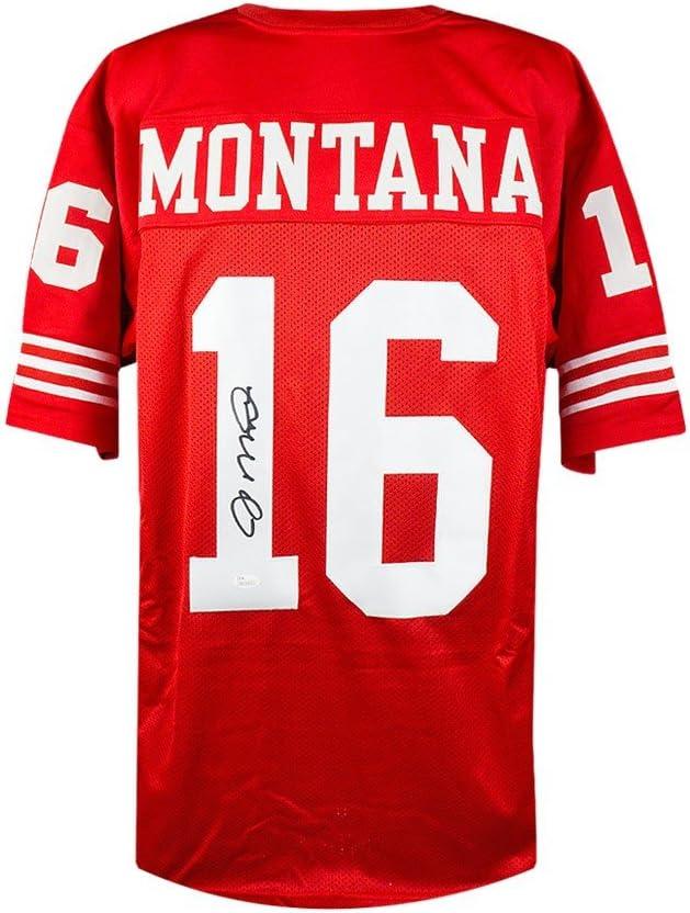 Joe Montana Autographed San Francisco 49ers Custom Red Football Jersey JSA COA