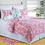 C&F Home 89918.8686 Quilt, Full/Queen, Coral