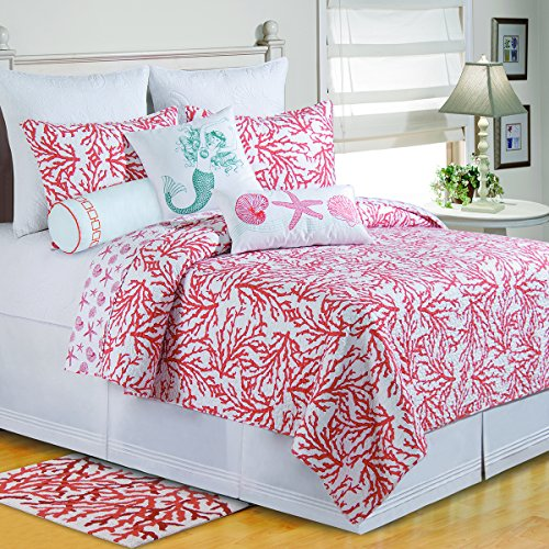 C F Home 89918.10592 Quilt, King, Coral
